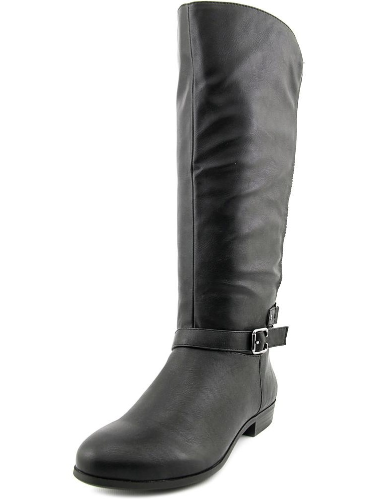 Style & Co Faee Wide Calf Women  Round Toe Synthetic Black Mid Calf Boot