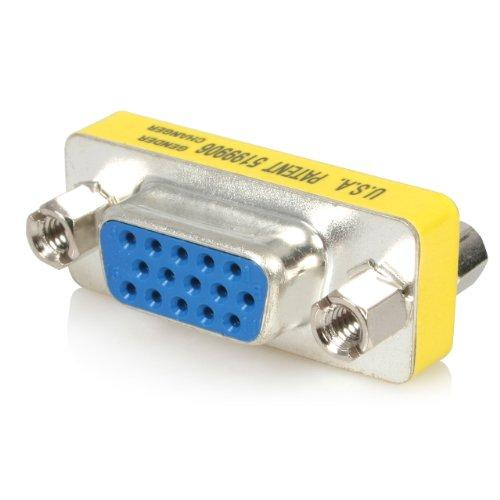 Startech.com Slimline Vga Hd15 Gender Changer - F/f - 15-pin D-sub (hd-15) Female To 15-pin D-sub  Female