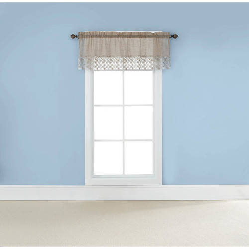 Belle Maison USA, LTD. Lillian Valance with Macrame Band 55� x 17� by Belle Maison USA Ltd.