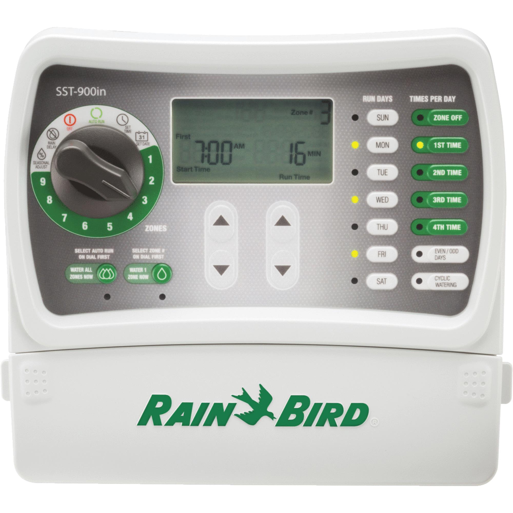 RAIN BIRD SST900I Irrigation/Sprinkler Timer, 9 Zone, 7 Day