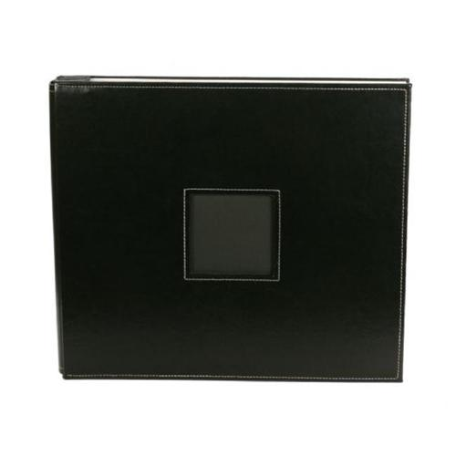 Alvin AC76085 Album 12x12 Post Leather Black