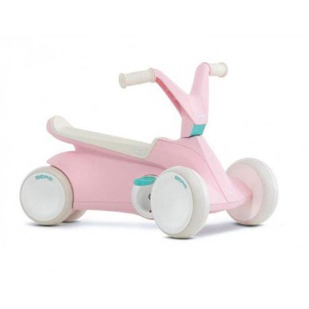 BERG Toys GO2 2-in-1 Toddler Push and Pedal Small Go-Kart Ride On Toy, Pink