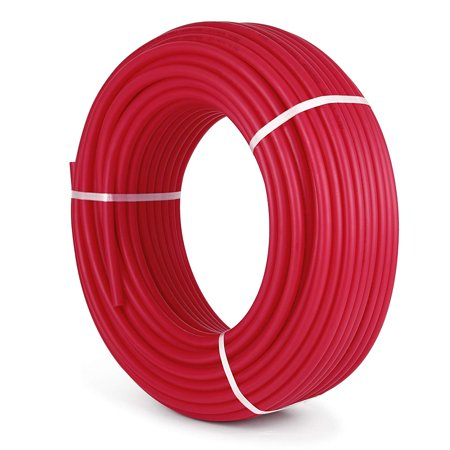BestEquip 1/2 Inch PEX Tubing Potable Water Tube 300 FT PEX-B Plumbing Pipe Non-Barrier Radiant Heating Pex Coil for Water Plumbing Open Loop Hydronic Heating - Water Stop Pipe Sleeve