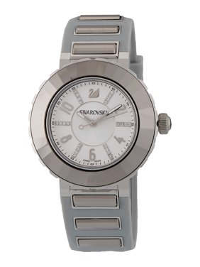 Swarovski New Octea Sport Steel Silver Rubber Strap Quartz Womens Watch 5040561