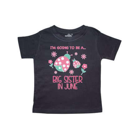I'm Gonna Be a Sister in June with Ladybugs Toddler T-Shirt - Lady Bug Outfit