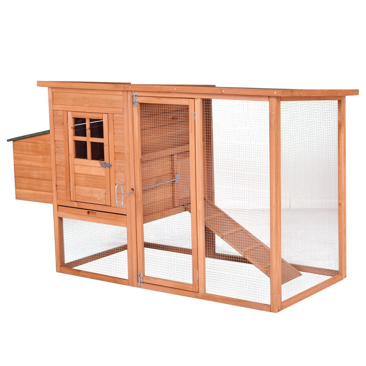 """68"""" Pet Wooden House Rabbit Hutch Chicken Coops Cage by"""
