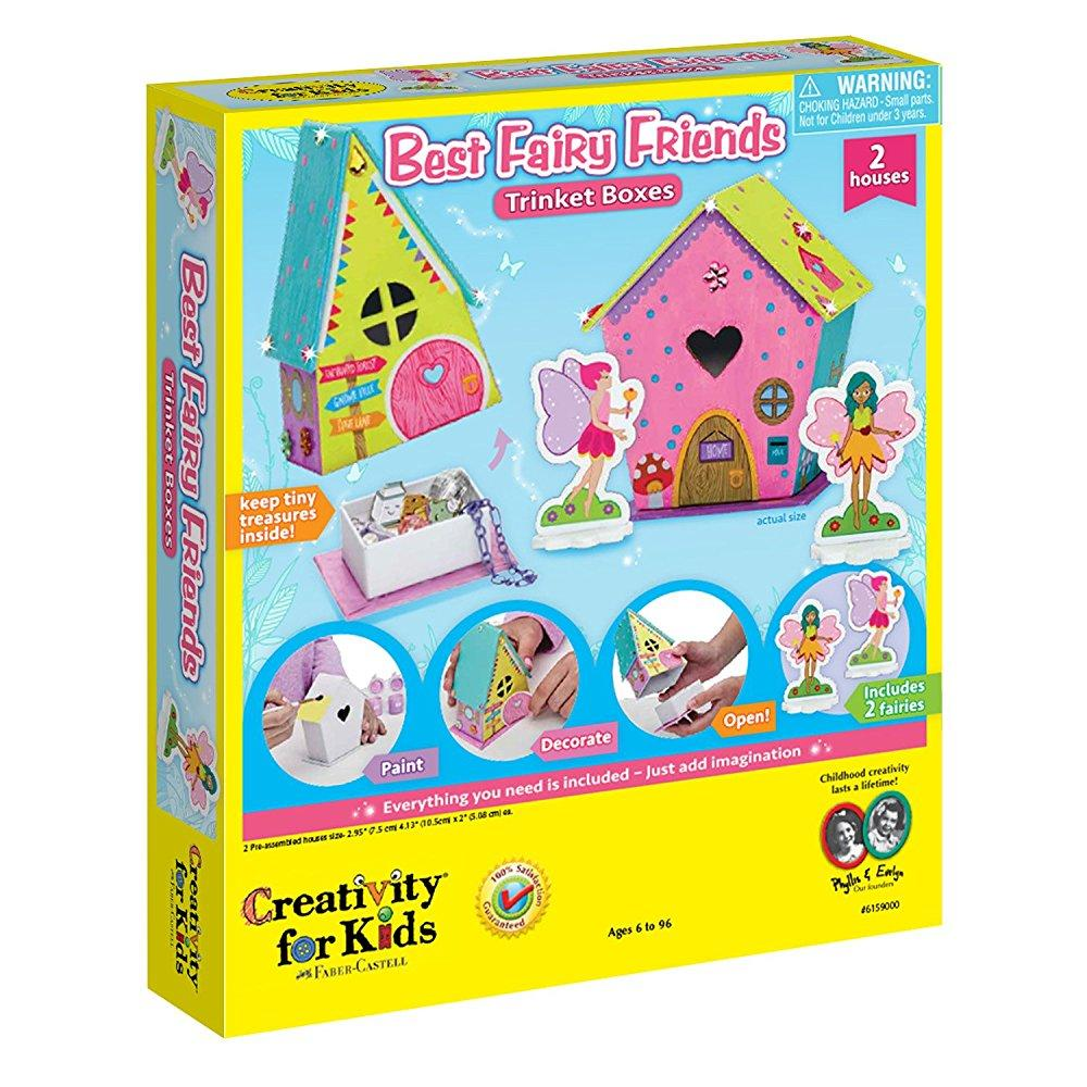 Best Fairy Friends Trinket Boxes Craft Kit by Creativity for Kids by Faber-Castell