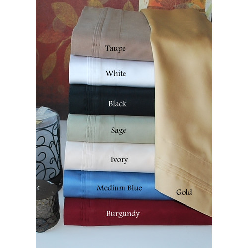Simple Luxury 800 Thread Count Solid Pillowcase Set
