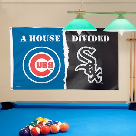 Chicago Cubs/Chicago White Sox WinCraft Deluxe 3' x 5' House Divided Flag - No Size (Halloween Six Flags America)