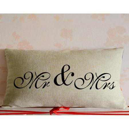 Fabricmcc Wedding Giftmr And Mrs Pillow Coverengagement Gift