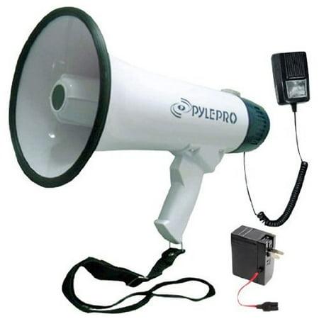 Pyle Professional Dynamic Megaphone with Recording Function/Detachable Microphone (Directors Megaphone)