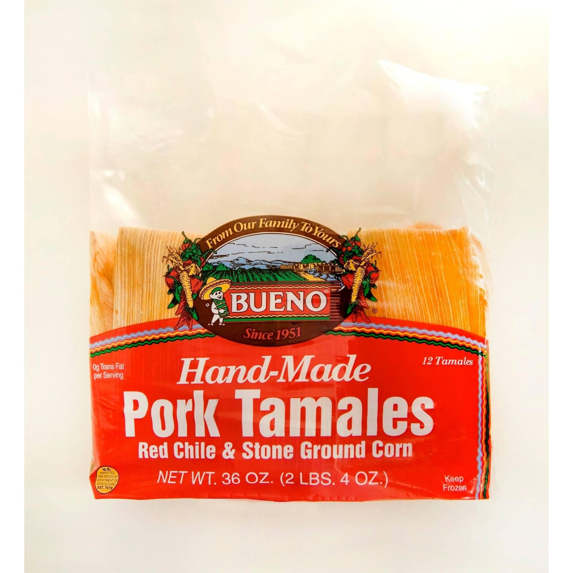 Bueno Hand-Made Pork Tamales, 36 oz.