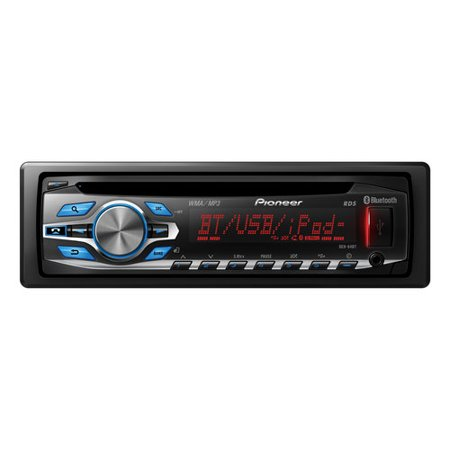 Pioneer Car Stereo w/ CD Player, built-in Bluetooth, USB input, Remote, on
