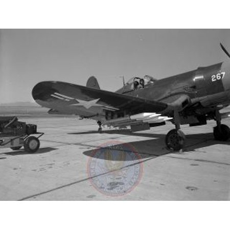 - Canvas Print 6.5-Inch Anti-Tank Aircraft Rocket (RAM) mounted on Vought F4U-4 Corsair at NOTS, China Lake, Cali Stretched Canvas 10 x 14
