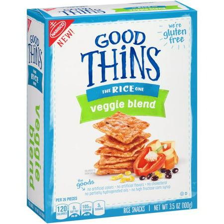 (3 Pack) Nabisco Good Thins Veggie Blend Rice Snacks, 3.5oz
