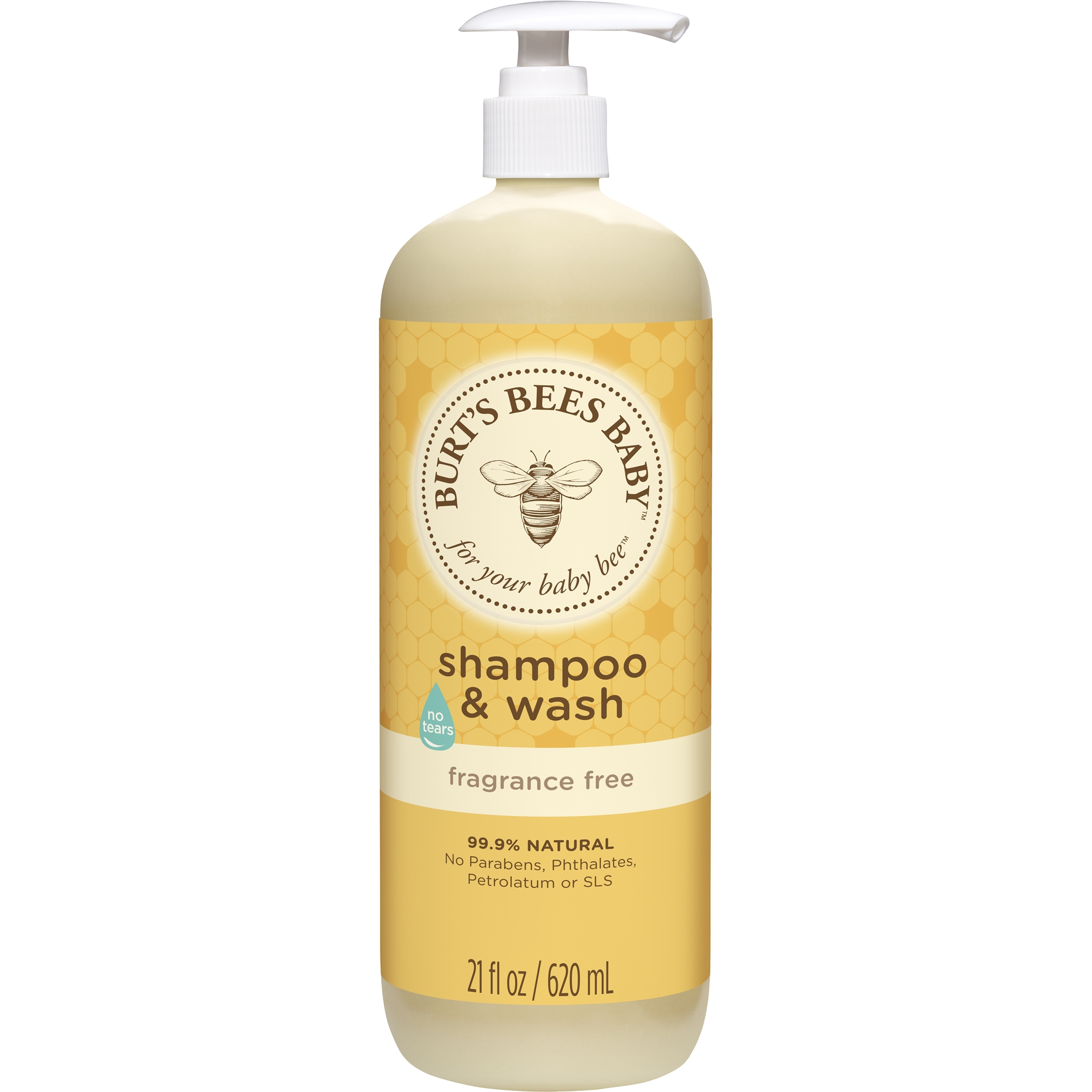 Burt's Bees Baby Shampoo & Wash, Fragrance Free & Tear Free Baby Soap 21 Ounce Bottle by The Clorox Company