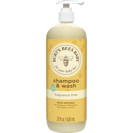 - Burt's Bees Baby Shampoo & Wash, Fragrance Free & Tear Free Baby Soap - 21 oz Bottle