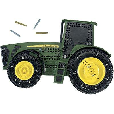 unique john deere tractor shaped cribbage board game with...