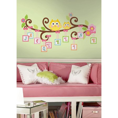 Happi Scroll Tree Letter Branch Peel & Stick Giant Wall Decal (Peel And Stick Letters)