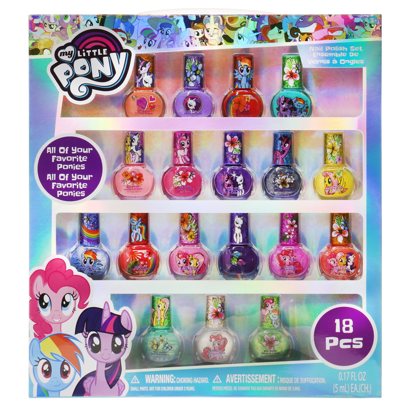 My Little Pony 18 Pk Nail Polish by Townley Inc