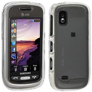 A887 Case - Premium Clear Snap On Hard Shell Case for Samsung Solstice A887