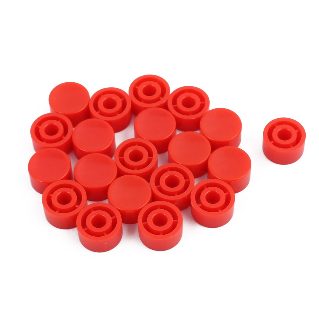 20Pcs Round Shaped Tactile Button Caps Covers f 6mmx6mm Tact Switch