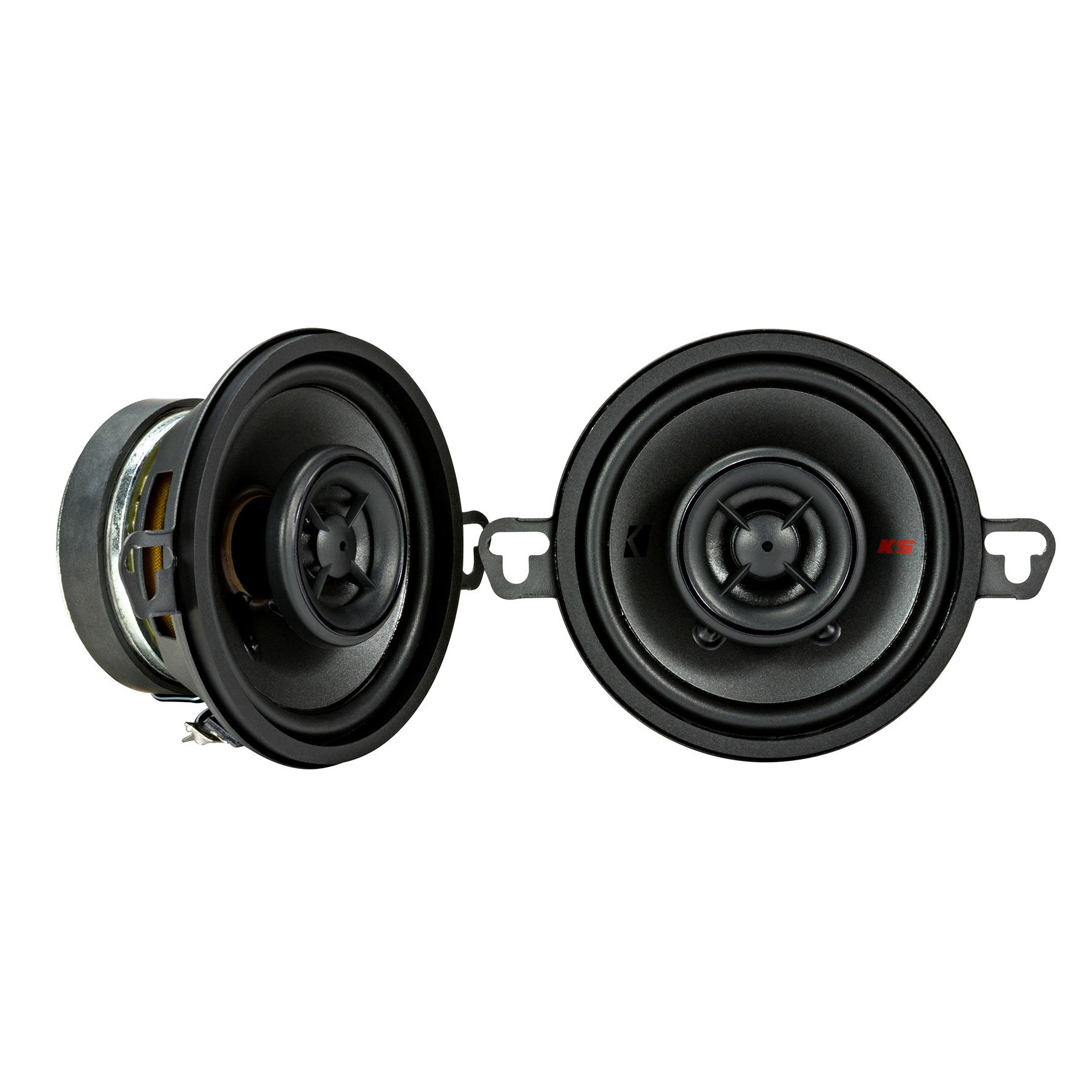 "KICKER 44KSC3504 3.5"" (89mm) Coax Spkrs w/.5""(13mm) tweeters, 4ohm, RoHS Compliant"