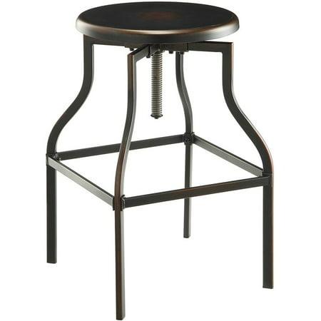 Carolina Classics Alston Adjustable Bar Stool in Antique Copper