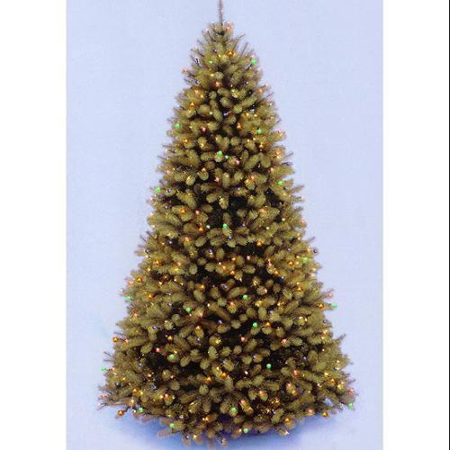 12' Downswept Douglas Fir Pre-Lit PE Artificial Christmas Tree - Multi Lights