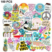 Stickers for Water Bottles , 100pcs Waterproof Cute Aesthetic Trendy Stickers for Teens Kids Girls and Boys, for Notebook Phone Car Travel