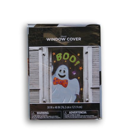 Halloween Spooky Ghost Window Cover - 30'' x 48'' By Retail](Halloween Retail Sales)