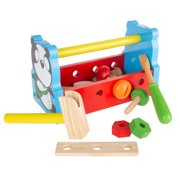 Kids Tool Set – Wooden Toy Toolbox Playset by Hey! Play!