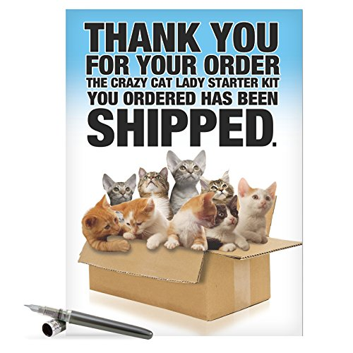 "J8016 Jumbo Funny Birthday Greeting Card: 'Cat Lady Starter Kit' with Envelope (Jumbo Size: 8.5"" x 11"")"