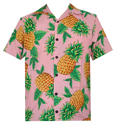 Hawaiian Shirts 50 Mens Pineapple Leaf