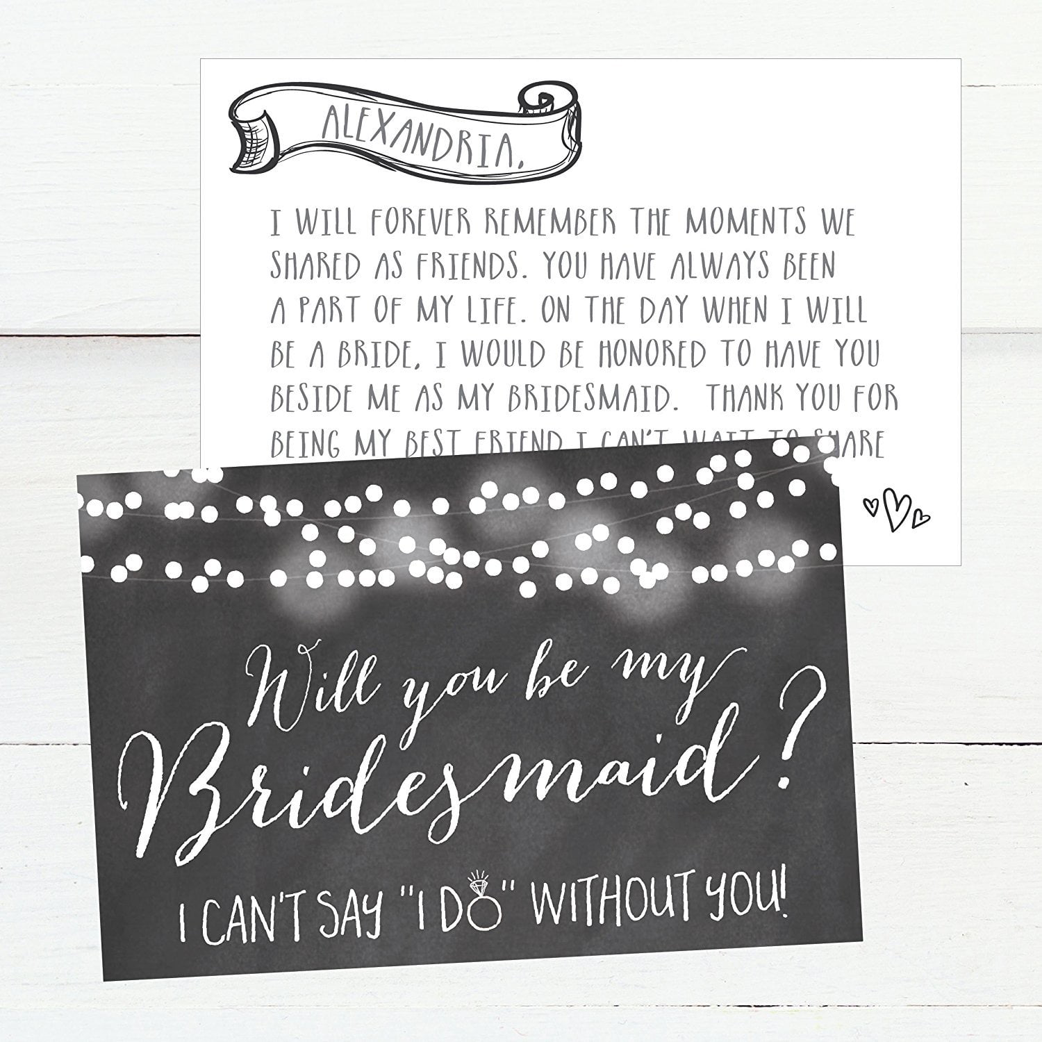 We cant MAKE IT OFFICIAL without you will you be my junior bridesmaid card bridal bridesmaid proposal card kraft wedding make it official
