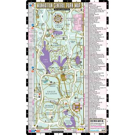 Central Park Map New York on