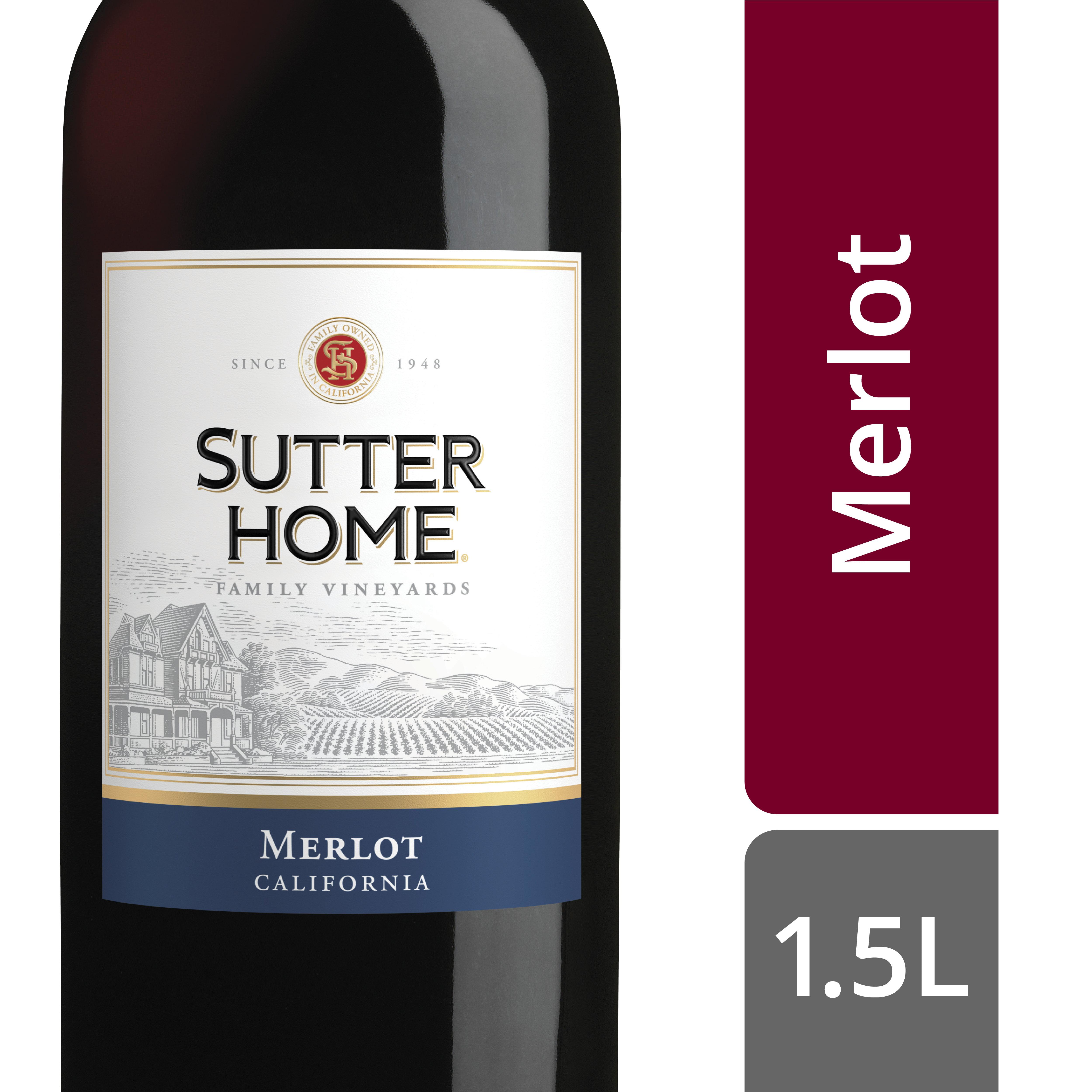 Sutter Home Merlot Red Wine 1 5 Lt Walmart Com Walmart Com