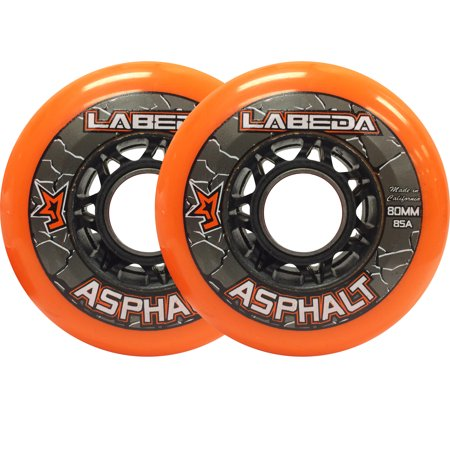 LABEDA WHEELS Inline Roller Hockey GRIPPER ASPHALT OUTDOOR ORANGE 80mm 85A - Asphalt Roller