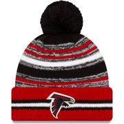 Atlanta Falcons New Era Youth 2021 NFL Sideline Sport Pom Cuffed Knit Hat - Black/Red - OSFA