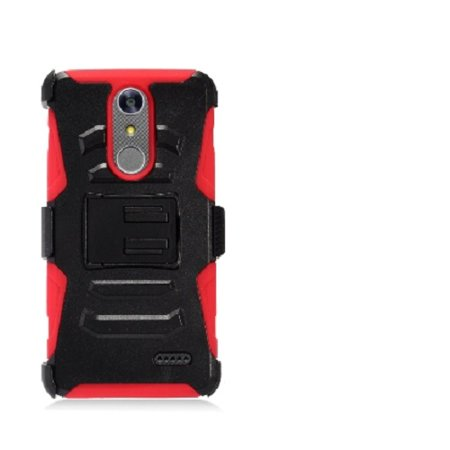 new style 57302 9a2d7 ZTE Zmax One LTE Z719DL Case, Phone Case for ZTE Blade Spark 4G (AT&T), ZTE  Grand X4 (Cricket Wireless) Dual Layer Holster Belt Clip Cover Case with ...