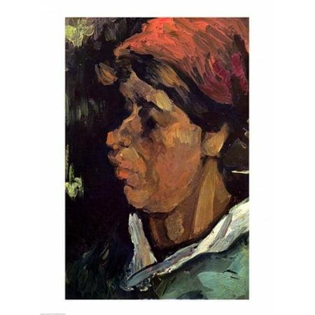 Head of a Dutch Peasant 1884 Canvas Art - Vincent Van Gogh (18 x 24)