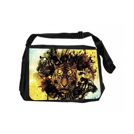 Tiger Brand Jack - Tiger Splash Art Jacks Outlet TM Laptop Messenger Bag