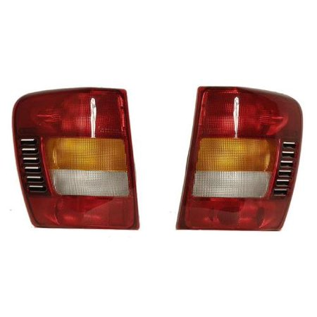 Go-Parts - PAIR/SET - OE Replacement for 2001 - 2004 Jeep Grand Cherokee Rear Tail Light Assemblies / Lens / Cover - Left & Right (Driver & Passenger) Replacement For Jeep Grand