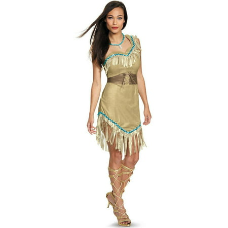 Disney Princess Deluxe Pocahontas Women's Plus Size Adult Halloween Costume, XL