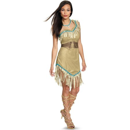 Disney Princess Deluxe Pocahontas Women's Plus Size Adult Halloween Costume, XL - Pochahontas Dress