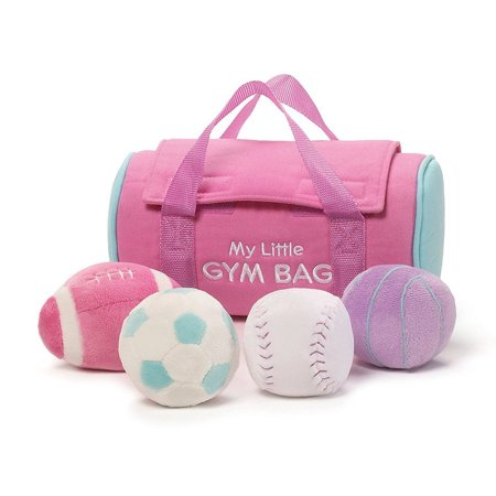 Stores Close By (Ba My Little Gym Bag Playset, Colorful pink plush sports bag with touch and close fasteners for secure storage By GUND Ship from)