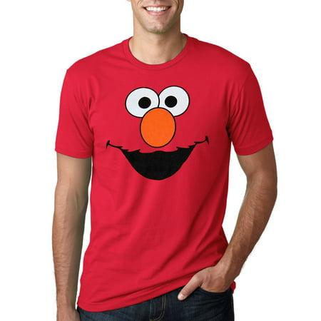 Sesame Street Elmo Face Adult T-Shirt - Elmo T Shirt