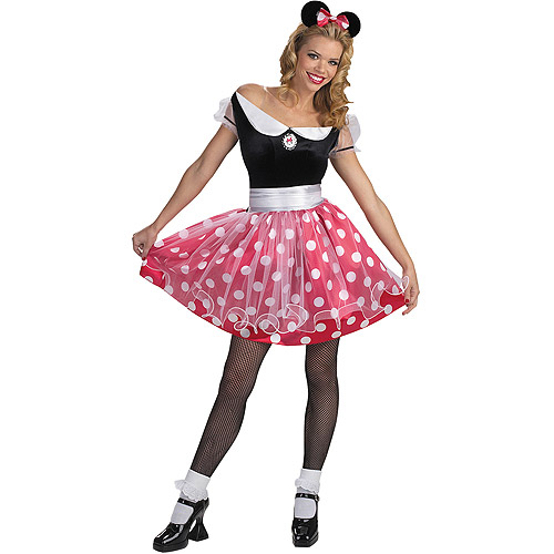 Mini Mouse Adult Halloween Costume - One Size