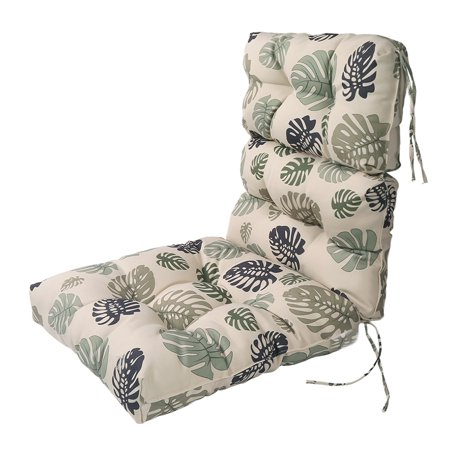 Lnc Indoor Seat Cushions Outdoor Lounge Chair Patio High Back Cushion Green Leaf
