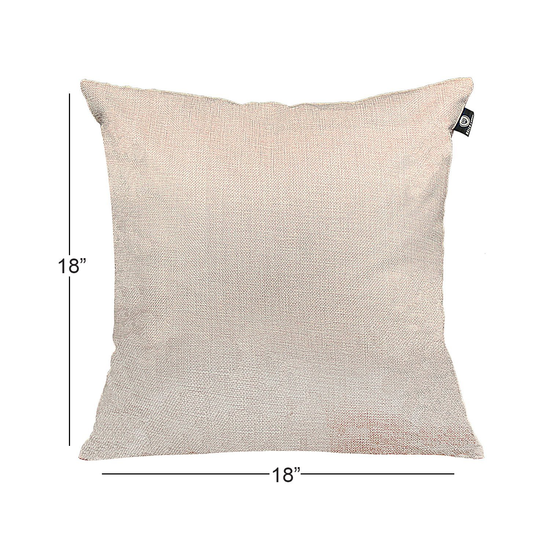 Dl Furniture 2 Piece Linen Cotton Blend Throw Pillow Cushion Case Cover 20 X Light Grey